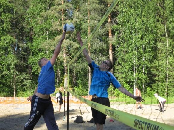 Miika Ojanen ja Olli Säynäjäkangas verkkotaistelussa.