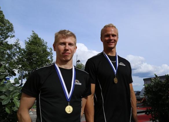 Henri Tissari ja Simo Näkki opiskelijoiden beach volley SM
