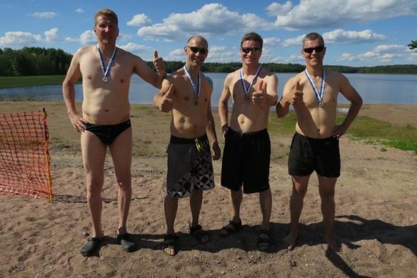 Wänärin joukkue: Tero Viitanen, Wille Markkanen, Esa Kaarakainen ja Jari Lehtelä.