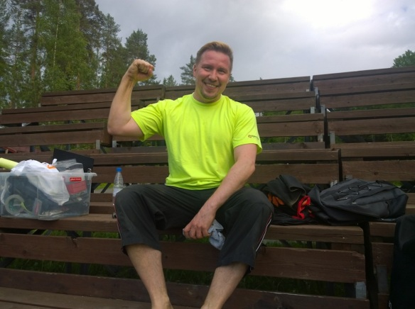 Keskarivoittaja Ville Tila on treenaillut viimeaikoina.